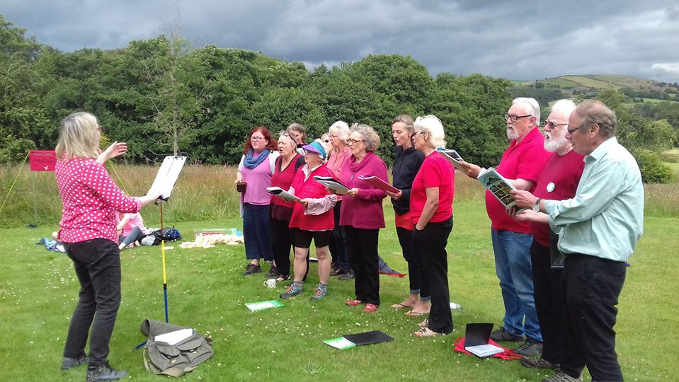 Singing at Clarion House - EL Clarion Choir